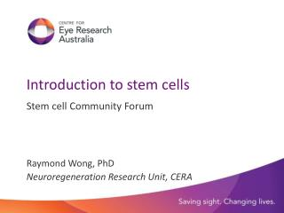 Introduction to stem cells
