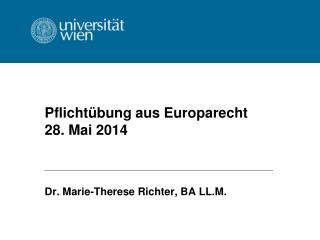 Pflichtübung aus Europarecht 28. Mai 2014