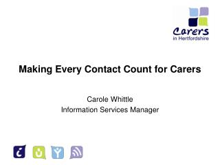 Making Every Contact Count for Carers