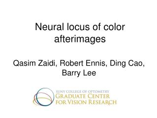 Neural locus of color afterimages