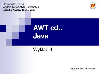AWT cd.. Java