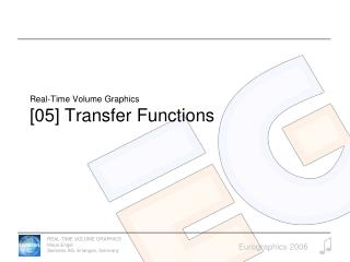 Real-Time Volume Graphics [05] Transfer Functions