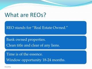 What are REOs?