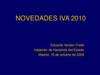 NOVEDADES IVA 2010