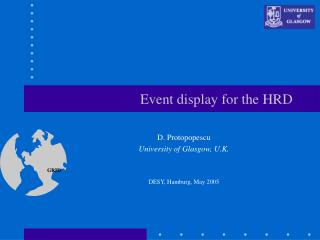 Event display for the HRD