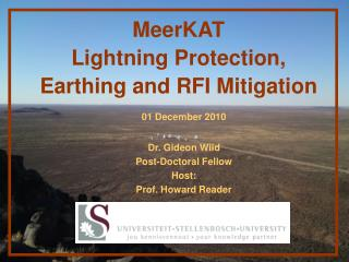 MeerKAT  Lightning Protection,  Earthing and RFI Mitigation