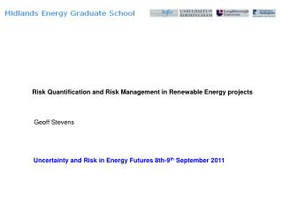 Risk Quantification and Risk Management in Renewable Energy projects
