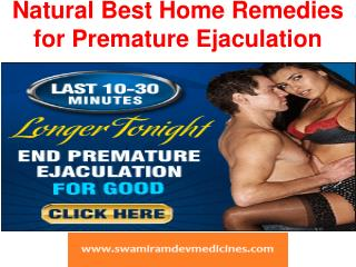 Natural Best Home Remedies for Premature Ejaculation