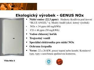 Ekologický výrobek  - GENUS NOx