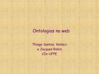 Ontologias na web