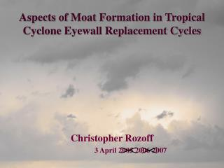 Aspects of Moat Formation in Tropical Cyclone Eyewall Replacement Cycles