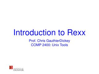 Introduction to Rexx