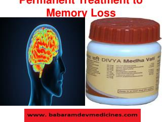 Permanent Treatment to Memory Loss