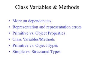 Class Variables & Methods