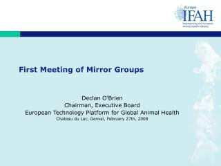 First Meeting of Mirror Groups