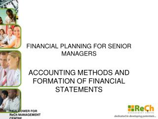 FINANCIAL PLANNING FOR SENIOR MANAGERS