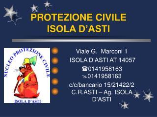 PROTEZIONE CIVILE ISOLA D'ASTI
