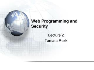 Web Programming and Security