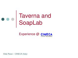 Taverna and SoapLab