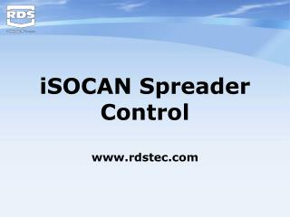 iSOCAN Spreader Control rdstec