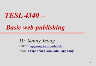 TESL 4340 – Basic web - publishing