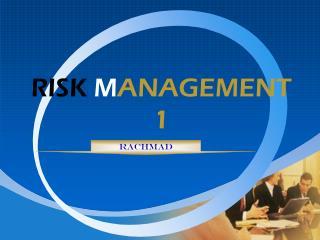 RISK M ANAGEMENT  1