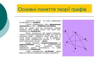 Основні поняття теорії графів
