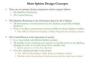 Main Sphinx Design Concepts