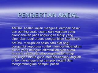 PENGERTIAN AMDAL