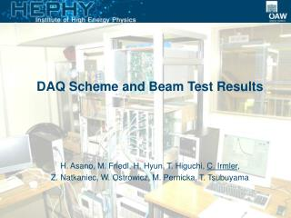 DAQ Scheme and Beam Test Results