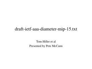 draft-ietf-aaa-diameter-mip-15.txt
