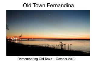 Old Town Fernandina