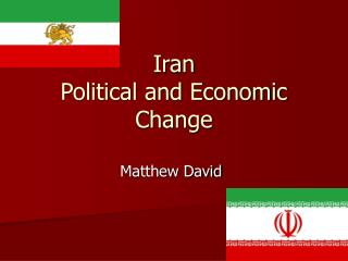 Iran  Political and Economic Change