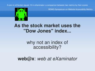 As the stock market uses the
