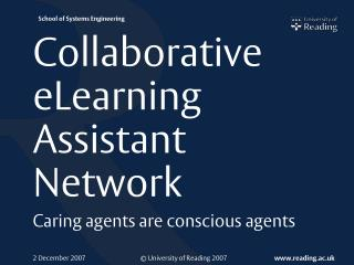 Collaborative eLearning Assistant Network
