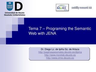 Tema 7 – Programing the Semantic Web with JENA