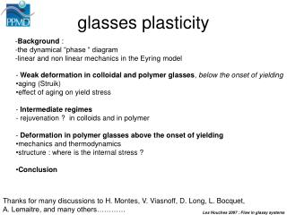 glasses plasticity