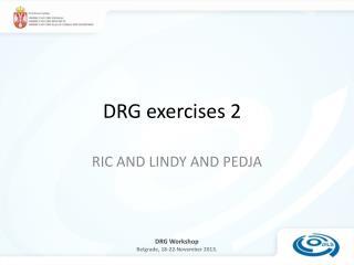 DRG exercises 2