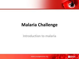 Malaria Challenge