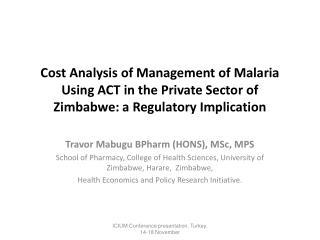 Travor Mabugu BPharm (HONS), MSc, MPS