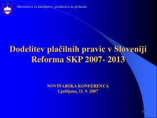 Model in izvedba reforme neposrednih plačil