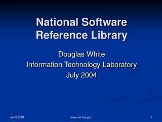 National Software Reference Library