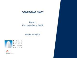 CONVEGNO CNEC Roma,  12-13 Febbraio 2013 Simone  Spreafico