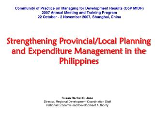 Community of Practice on Managing for Development Results (CoP MfDR)