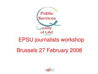 EPSU journalists workshop