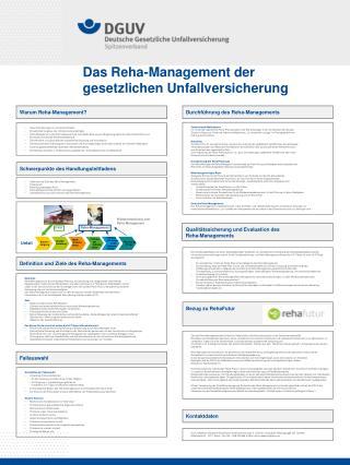 Das Reha-Management der gesetzlichen Unfallversicherung
