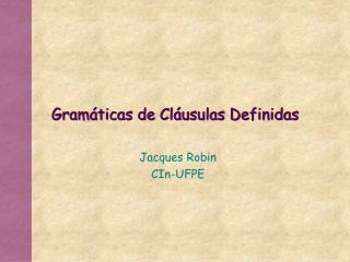 Gramáticas de Cláusulas Definidas