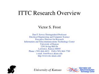 ITTC Research Overview