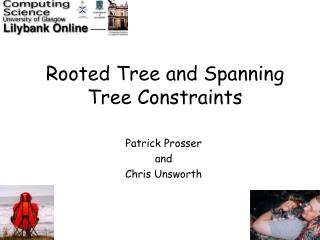 Rooted Tree and Spanning Tree Constraints