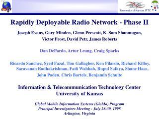 Rapidly Deployable Radio Network - Phase II